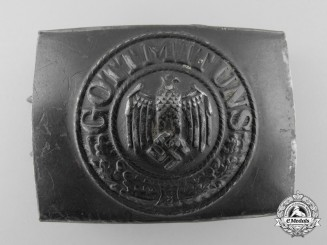 A 1937 Pattern Army Kriegsmarine Coastal Artillery Enlisted Man's Belt Buckle