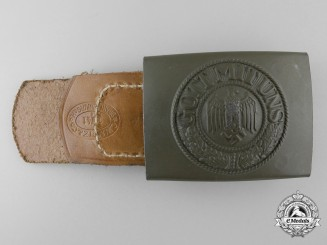 A Mint Army (Heer) Enlisted Man's Belt Buckle by C.W. MOTZ & Co