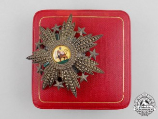 An Iranian Order of the Lion and the Sun; 2nd Class for Royalty by V. MAYER SÖHNE WIEN