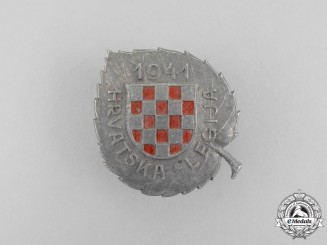 Croatia. A Second War Badge of the Croatian Legion for Russian Service
