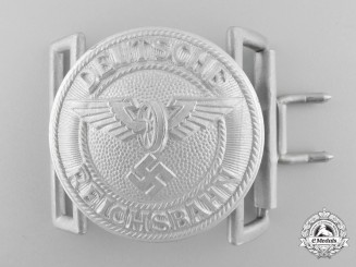 A 1940-1945 Pattern German State Railway Company Leader's Belt Buckle by F.W. Assmann & Söhne