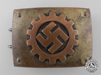 A German Labour Front Stosstrupp of the Werkschar Enlisted Man's Belt Buckle by Friedrich Linden