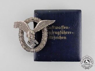 Germany. A Luftwaffe Pilot's Badge by O.M. in its Case of Issue