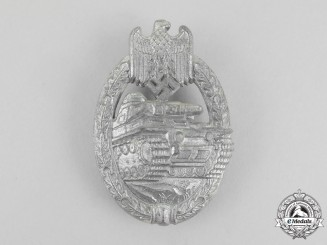 A Second War German Silver Grade Tank Badge by Ferdinand Wiedmann