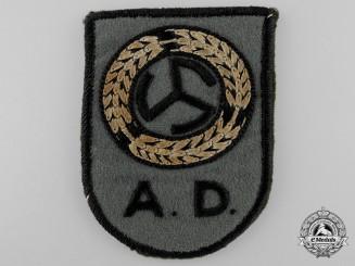 """A Rare Second War Dutch """"Oostkorps"""" N.A.D. Arm Badge"""