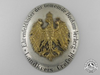 An Imperial Prussian Game Warden's Badge; District Krefeld