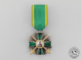 An Order of the Lion of Zahringen, Knight 2nd Class Cross with Gold Swords