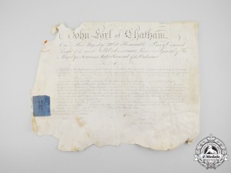 An 1805 Appointment Document to Ordnance Storekeeper at Quebec City, Lower Canada