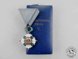 Yugoslavia. An Order of the Yugoslav Crown, 5th Class Knight with Case
