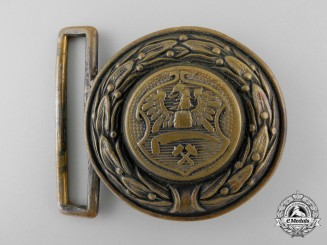 An Upper Silesia (Ober-Schlesien) Fire Defence Service Officer's Belt Buckle; Published