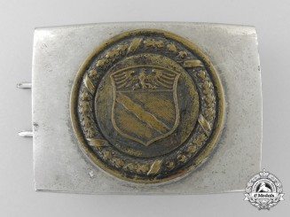 A Rheinland Fire Defence Service Enlisted Man's Belt Buckle; Published Example