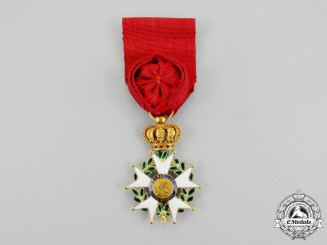 A French Legion D'Honneur; Officer in Gold, July Monarchy, c. 1830-1838.