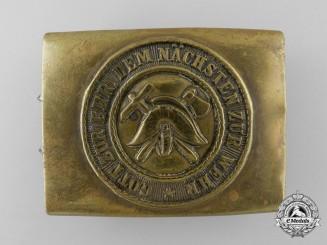 A Weimar Republic Volunteer Fire Defence Service Enlisted Man's Belt Buckle