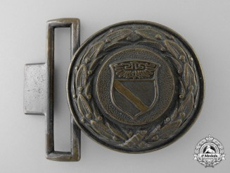 A Rheinland Fire Defence Service Officer's Belt Buckle