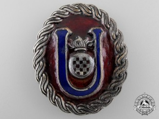 A Second War Croatian Ustasha Officer's Belt Buckle