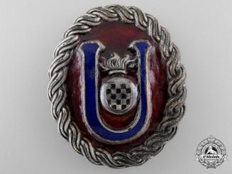 A Second War Croatian Ustasha Officer's Belt Buckle