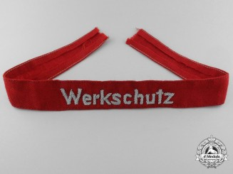 A Factory Protection Police Officer's Werkschutz Cufftitle