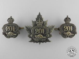 A First War 201st Canaidan Infantry Battalion Badge Set