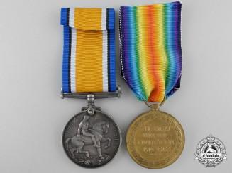 A First War Medal Pair to Lieutenant D.H. Stewart