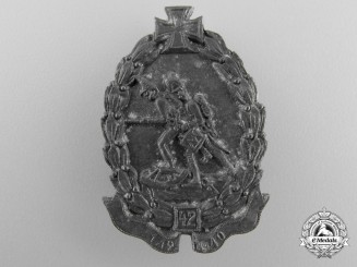 A Second War 42nd Hungarian Division Cap Badge