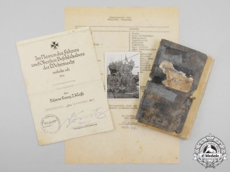Germany, Kriegsmarine . A KIA Document Group to U-Boat 160 Cook
