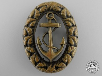 A Rare Second War Croatian Officer's Navy Badge; Type 1