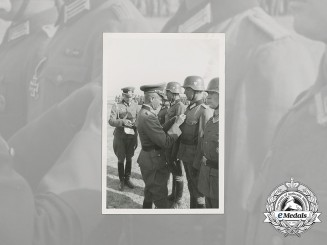 A Wartime Photo of Soldiers Being Awarded the Iron Cross 2nd Class