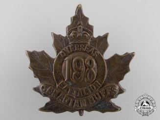 "A First War 198th Infantry Battalion ""Canadian Buffs"" Cap Badge"