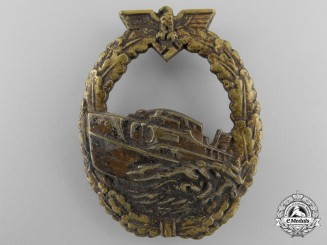 A Kriegsmarine First Pattern E-Boat Badge by Schwerin, Berlin