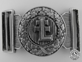 A Second War Period Hungarian Levente Officer's Belt Buckle