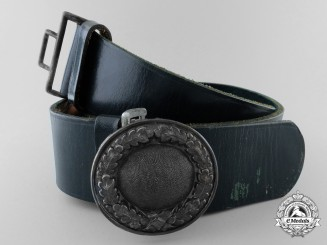 A German Private Forestry Official's Belt with Buckle