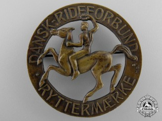 A 1930's Danish Horseman's Knights Badge
