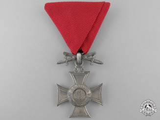 A Bulgarian Order of St. Alexander; Sixth Class Cross with Swords