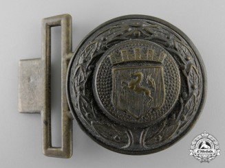 A Third Reich Westfalen Province Fire Defence Service Officer's Belt Buckle; Published Example