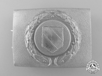 A Third Reich Baden Fire Defence Service Enlisted Man's Belt Buckle