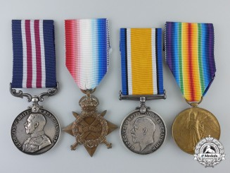 A First War Military Medal Group for Artillery Action in 1918