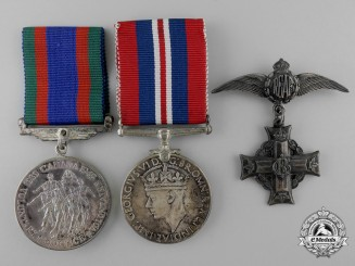 A Second War Memorial Cross Group to Leading Aircraftman James E. Stanley RCAF