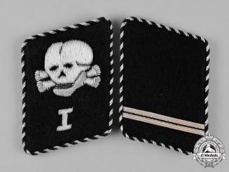 Germany, SS. A Pair of SS-Totenkopfverbände Sturmmann Collar Tabs