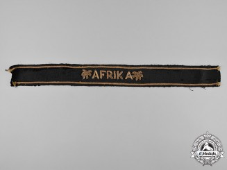 Germany, Kriegsmarine. A Afrika Korps Officer's Cuff Title