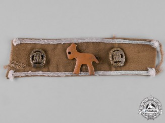 Germany, Third Reich. An Afrika Cuff Title Section with Possible Unit Badge & DRL Sports Badges