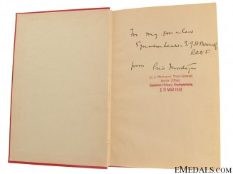 Major-General Price J. Montague Signed Book