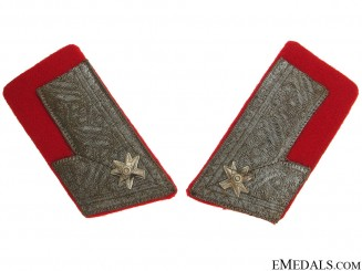 Major of Croatian Home Army Collar Tabs