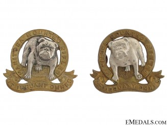 Manitoba Mounted Rifles Officer Collar Badges