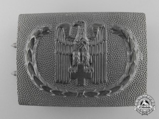 A German Red Cross 1938 Pattern Enlisted Man's Belt Buckle by Overhoff & Cie