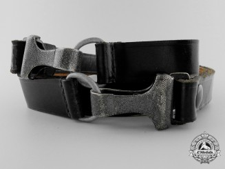 A Black Shoulder Strap by Overhoff & Cie, Ludenscheid