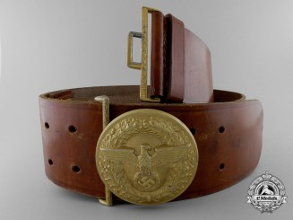 An NSDAP-SA Political Leader's Belt with Buckle by Friedrich Linden