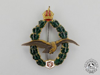 Austria. An First War Field Pilot's Badge, Named and Dated