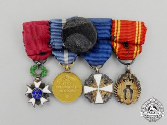 Sweden. A Fine Group of Four Miniature Medals