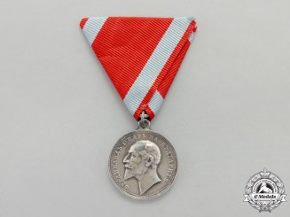 Bulgaria. A Medal for Merit; Silver Grade Type V