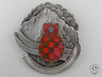 A 1941-43 Croatian Army Winter Sport Badge